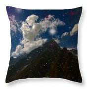Stars And Planets On Mont Blanc Throw Pillow
