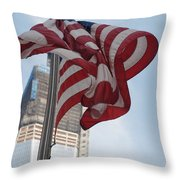Stars And Stripes And 1 W T  C Throw Pillow