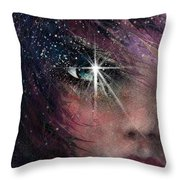 Stars In Her Eyes Throw Pillow by Rachel Christine Nowicki