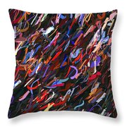 Stars In The Night Sky Abstract 3a Throw Pillow