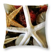 Stars Of The Sea Throw Pillow by Colleen Kammerer