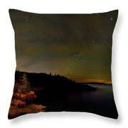 Stars Over Monument Cove 4186 Throw Pillow