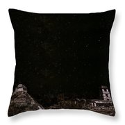 Stars Over Palenque Throw Pillow