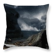 Stars Over Salt Water Throw Pillow