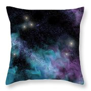 Starscape Nebula Throw Pillow