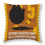 Starschips 05-poststamp -star Wars Throw Pillow by Chungkong Art