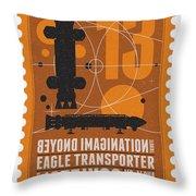 Starschips 13-poststamp - Space 1999 Throw Pillow by Chungkong Art