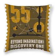 Starschips 55-poststamp -discovery One Throw Pillow