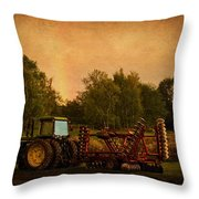 Starting Over - Vintage Country Art Throw Pillow