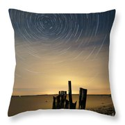 Startrails 2 Throw Pillow