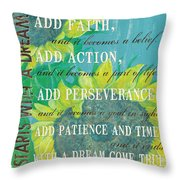 Starts With A Dream Throw Pillow by Debbie DeWitt