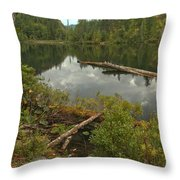 Starvation Lake - British Columbia Throw Pillow