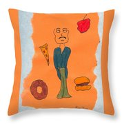 Starving Throw Pillow
