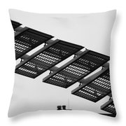 Starway To... In Black And White Throw Pillow