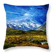 Stary Night Over Highlands Throw Pillow