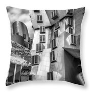 Stata Building 1 Bw Throw Pillow
