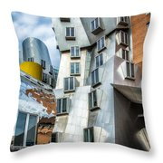 Stata Building 1 Throw Pillow