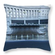 State Capital Fountain Throw Pillow