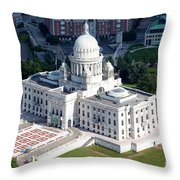 State Capitol Buildng Providence Rhode Island Throw Pillow