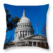 State Capitol In Madison Wi Throw Pillow