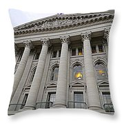 State Capitol Madison Wisconsin Throw Pillow