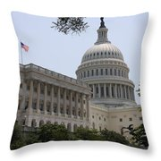 State Capitol Washington Dc Throw Pillow