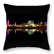 State Fair In Reflection Throw Pillow