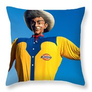 State Fair Of Texas Big Tex Yellow Throw Pillow