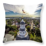 State House Beauty Over Annapolis Throw Pillow