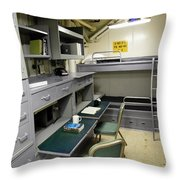 State Room Aboard Battleship Uss Throw Pillow