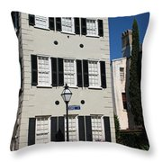 State Street - Charlestons French Quarter Throw Pillow