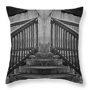 State Street Stairs Throw Pillow