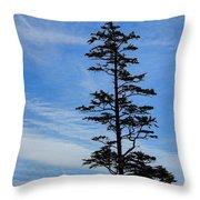 Stately Pine Throw Pillow