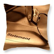 Statement With Glasses Throw Pillow