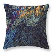 States Of Mind    Those Who Go Throw Pillow by Umberto Boccioni