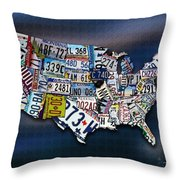 States Throw Pillow by Robert Smith