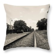 Station In The Distance Throw Pillow
