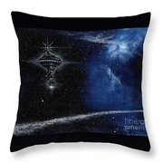 Station In The Stars Throw Pillow