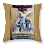 Station Of The Cross 06 Throw Pillow