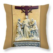 Station Of The Cross 10 Throw Pillow