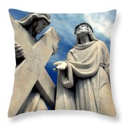 Station Of The Cross  Throw Pillow