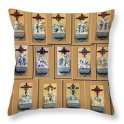 Stations Of The Cross Collage Throw Pillow