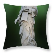 Statue 18 Throw Pillow