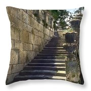 Statue And Stairs Throw Pillow