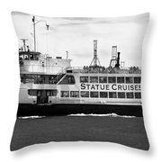 Statue Cruise Throw Pillow