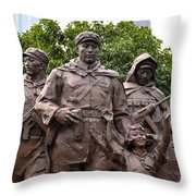 Statue Depicting Glory Of Chinese Communist Party Shanghai China Throw Pillow