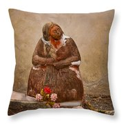 Statue From Mission San Juan Capistrano Throw Pillow