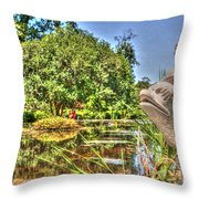 Statue In Brookgreen Gardens Throw Pillow