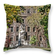 Statue In Germantown Throw Pillow