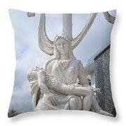 Statue In Kerala Throw Pillow